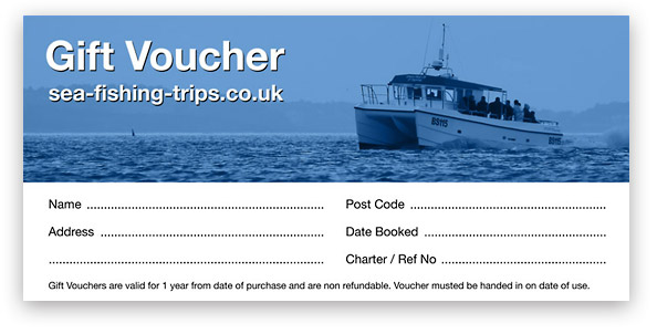 Sea Fishing Trips Gift Voucher
