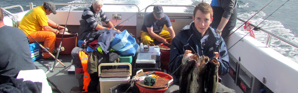 A successful day on the reefs around the Calf of Man